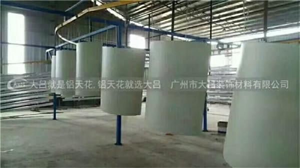 包柱铝单板喷涂